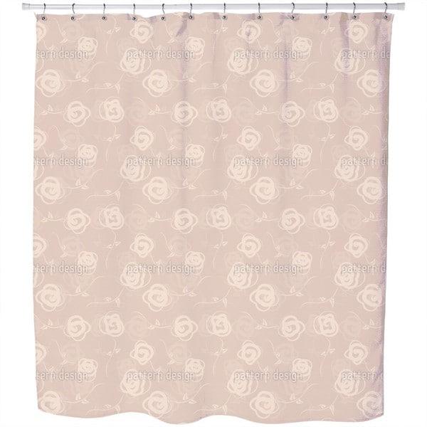 Rosebuds Flower Swing Shower Curtain