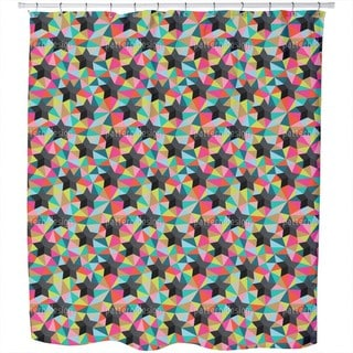 Stars On Colored Glass Shower Curtain