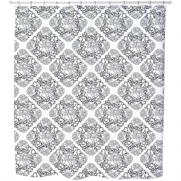 Rose Dream Black White Shower Curtain