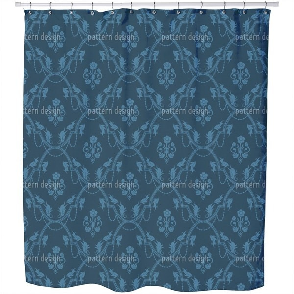 Rocko Azur Shower Curtain