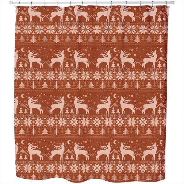 Roaring Deer in Norway Shower Curtain