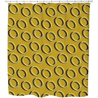 Ring Command Shower Curtain