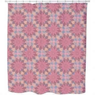 Starflowers of Harlequin Shower Curtain