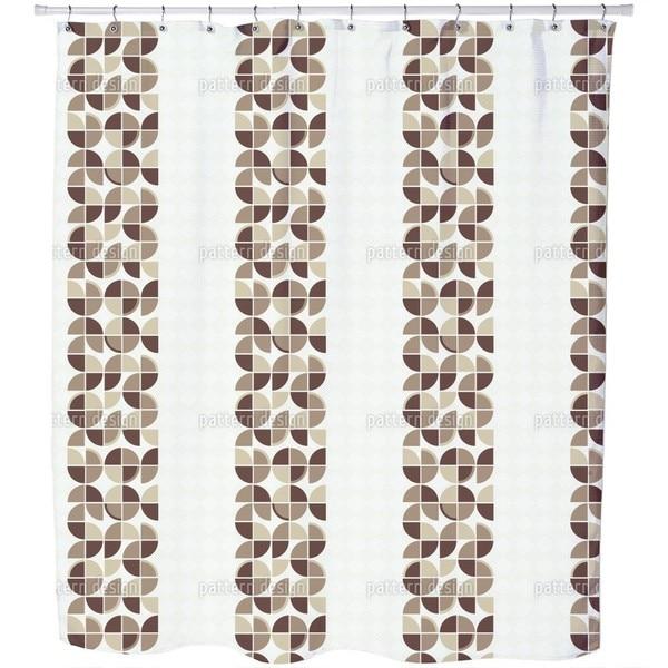Retropolis Brown Shower Curtain