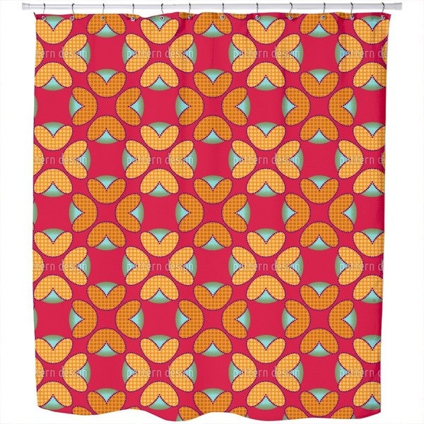 Retroflora Shower Curtain