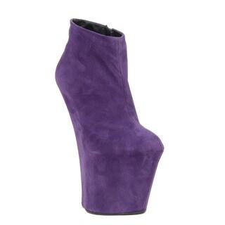 Giuseppe Zanotti Women's Purple Suede Bootie