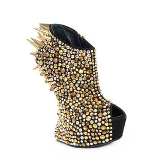 Giuseppe Zanotti Multicolor Stud and Spike Heel Booties