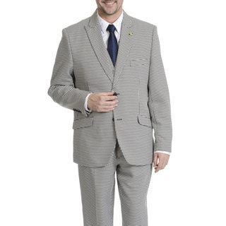 Falcone Men's Houndstooth 3-piece Grey Suit