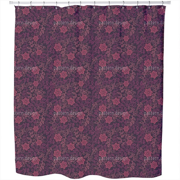 Starflowers At Midnight Shower Curtain
