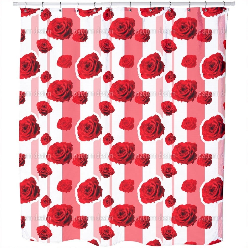 Uneekee Red Roses Shower Curtain (Extra Long (70 inches X...