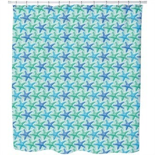 Starfish Mint Shower Curtain