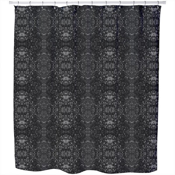 Stained Gray Shower Curtain