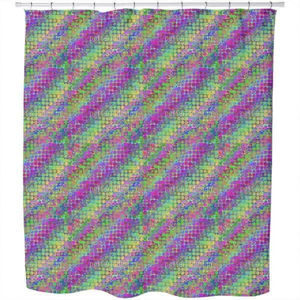 Rainbow in Colored Glass Shower Curtain