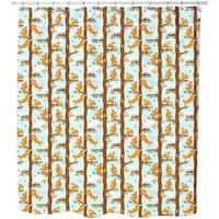 Squirrel Party Shower Curtain