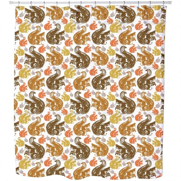Shop Squirrel Get Together Shower Curtain