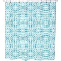 Quatrefoil Mosaik Shower Curtain