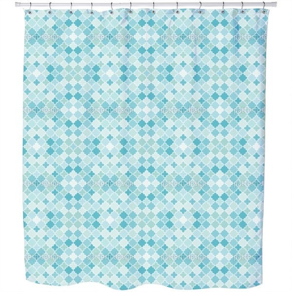 Quatrefoil Mosaik Shower Curtain