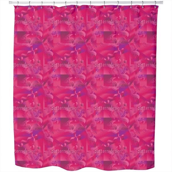 Pink Illusion Shower Curtain