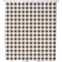 Square On Weave Shower Curtain