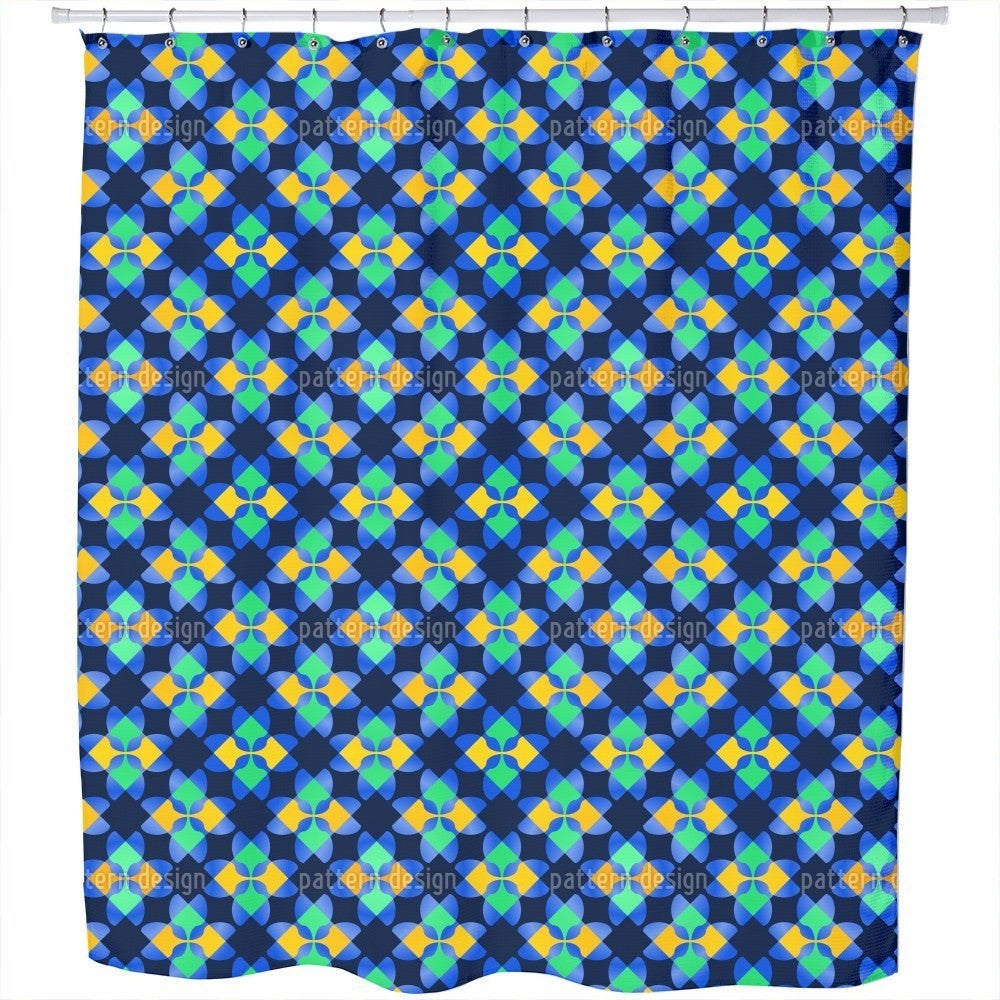 Uneekee Square Mosaic Shower Curtain (Extra Long (70 inch...