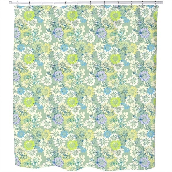 Spring Loves All The Flowers Shower Curtain