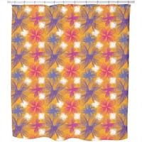 Spiralflowers Saffron Shower Curtain