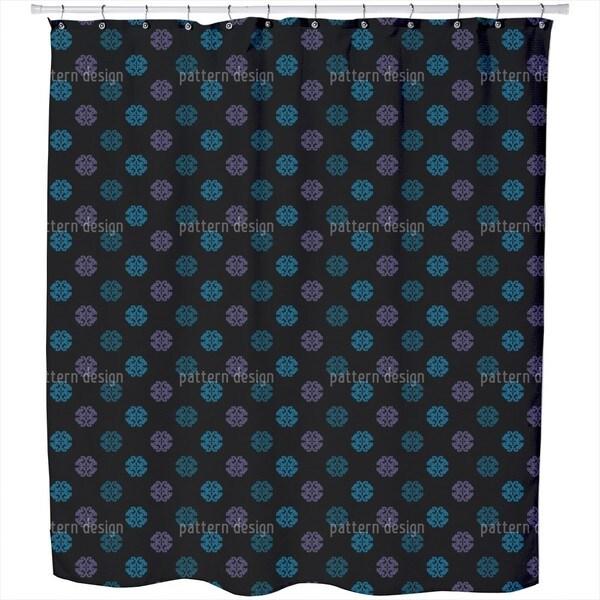 Perhaps Black Shower Curtain
