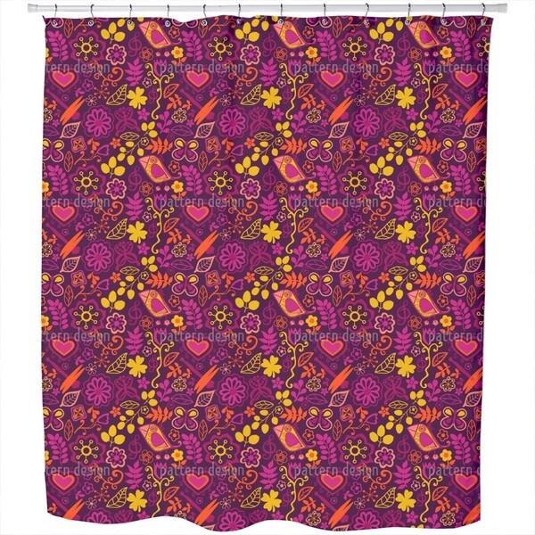 Piepsi in The Disco Jungle Shower Curtain