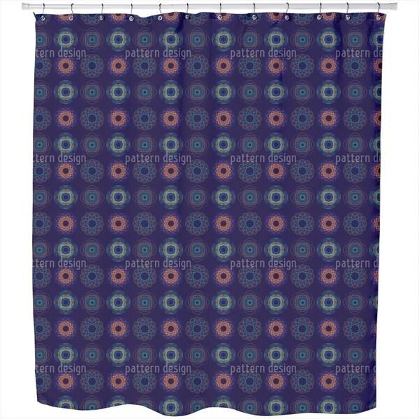 Spirograph Complex Shower Curtain