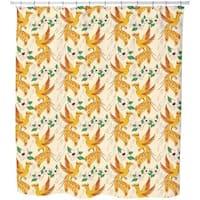 Phoenix and Lotus Shower Curtain