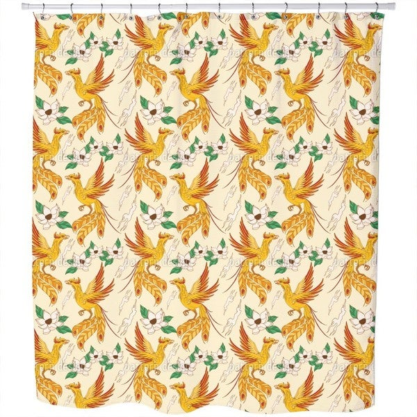 Phoenix and Lotus Shower Curtain