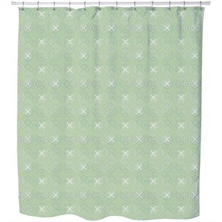 Spatial Coordinates Shower Curtain