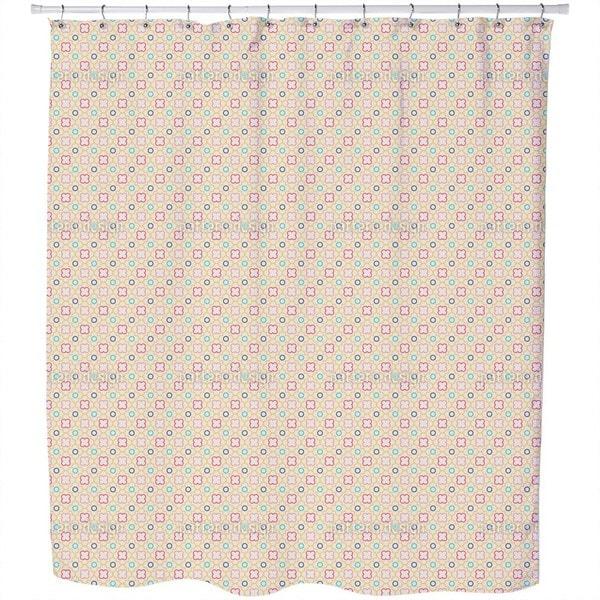 Retro Quatrefoil Shower Curtain