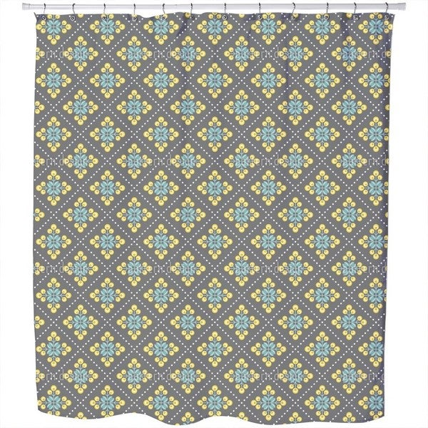 Retro Patchwork Flowers Shower Curtain
