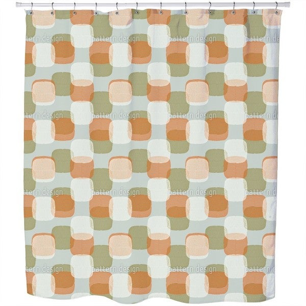 Retro Lampions Shower Curtain