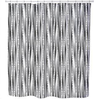 Retro Birch Forest Shower Curtain