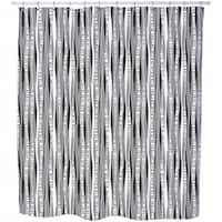 Retro Birch Forest Shower Curtain