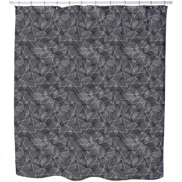 Reticular Circles Shower Curtain