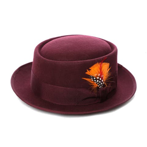 Ferrecci 100-percent Wool Felt Pork Pie Hat