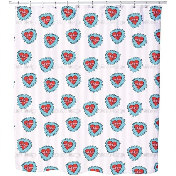 Heartshaped Box with Bow Shower Curtain