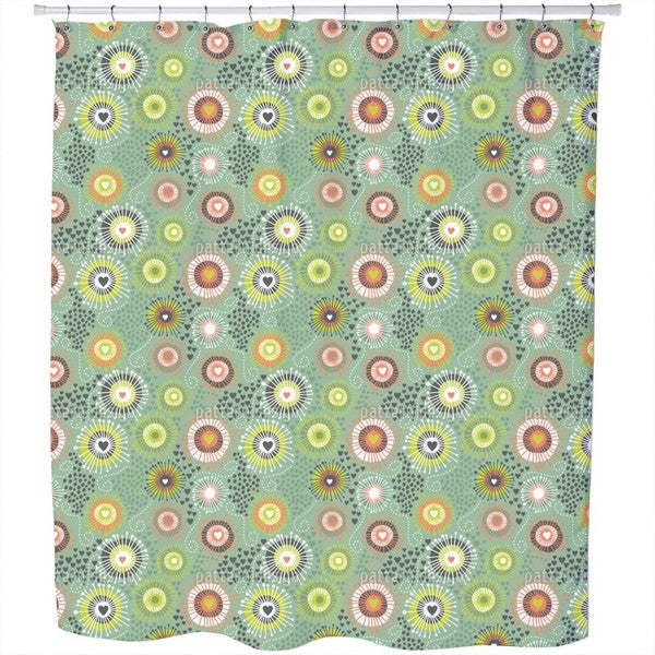 Heart Beats in Spring Shower Curtain
