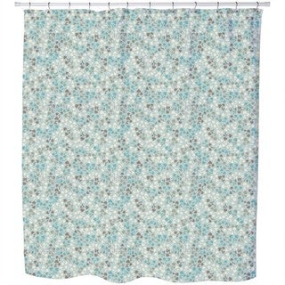 Perry Ellis Romance Floral Shower Curtain Free Shipping
