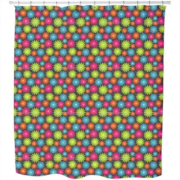 Happy Marguerite Shower Curtain
