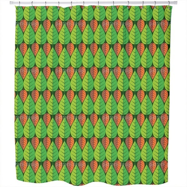 Growing and Falling Shower Curtain