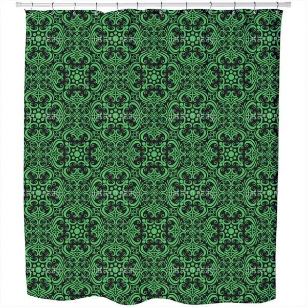 Green Romance Shower Curtain