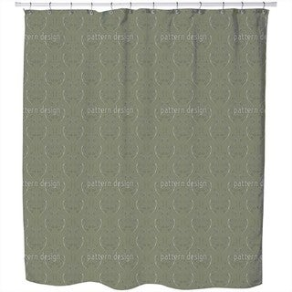 Green Onlooker Shower Curtain