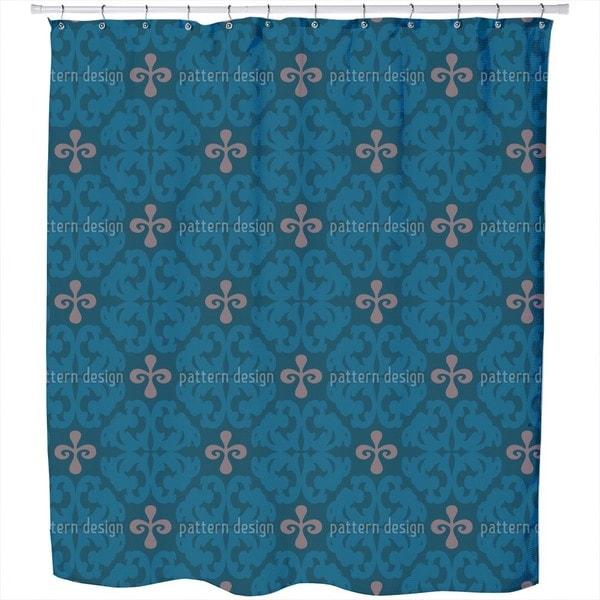 Paparock Blue Shower Curtain