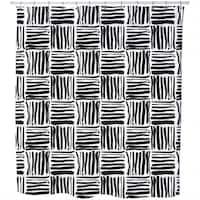 Painted Stripes Shower Curtain