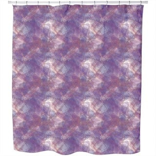 Golden Chain On Violet Silk Shower Curtain