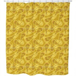 Gold Rush of Paisleys Shower Curtain